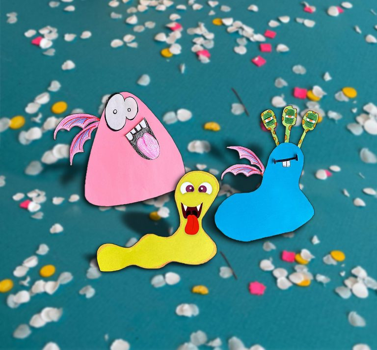 Maped - DIY activity for Halloween - Create paper monsters