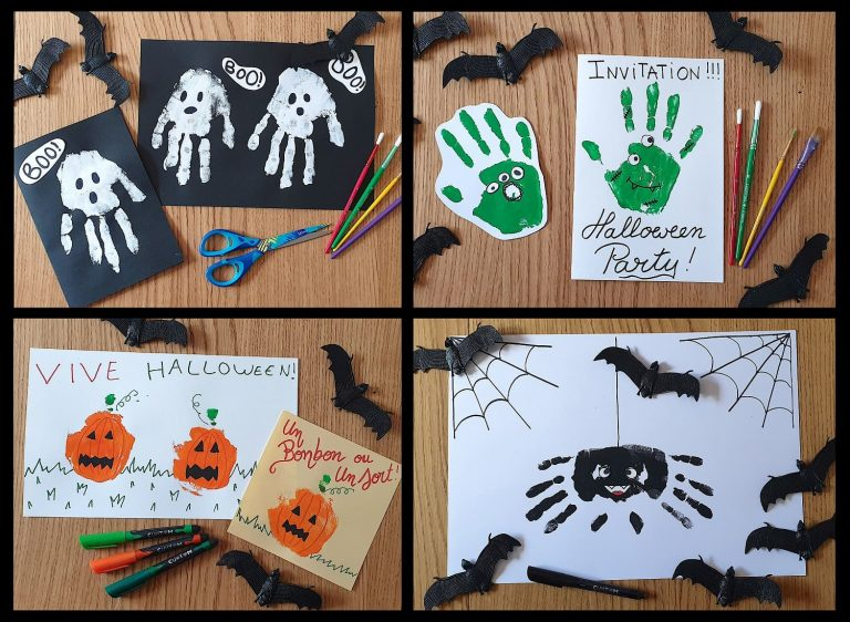 Maped - DIY activity for Halloween - Handprints pictures